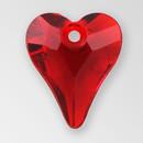 11mm Acrylic Heart Pendant, Siam color