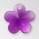 10mm Acrylic Flower Pendant, Amethyst color