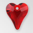14mm Acrylic Heart Pendant, Siam color