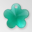 13mm Acrylic Flower Pendant, Emerald color