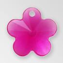 13mm Acrylic Flower Pendant, Fuchsia color