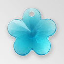 13mm Acrylic Flower Pendant, Indicolite color
