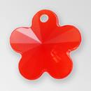 13mm Acrylic Flower Pendant, Light Siam color