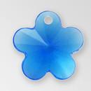 13mm Acrylic Flower Pendant, Sapphire color