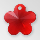 13mm Acrylic Flower Pendant, Siam color