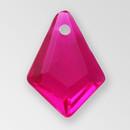 14mm Acrylic Briolette Pendant, Fuchsia color