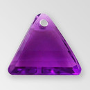 11mm Acrylic Triangle Pendant, Amethyst color