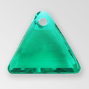 11mm Acrylic Triangle Pendant, Emerald color
