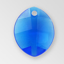 11mm Acrylic Leaf Pendant, Sapphire color
