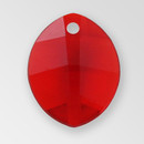 11mm Acrylic Leaf Pendant, Siam color