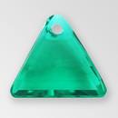13mm Acrylic Triangle Pendant, Emerald color