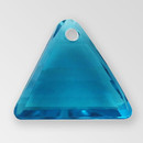13mm Acrylic Triangle Pendant, Indicolite color