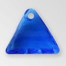 13mm Acrylic Triangle Pendant, Sapphire color