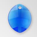 14mm Acrylic Leaf Pendant, Sapphire color