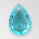14mm Acrylic Drop Pendant, Aquamarine color