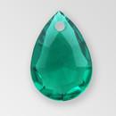 14mm Acrylic Drop Pendant, Emerald color