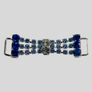 2 Inches x 0.75 Inch Crystal + Lt. Sapphire + Sapphire, Rhinestone Connector, ss14.5, ss29