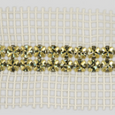 2-row Machine Cut Metal Banding Crystal, Gold Plated with White Netting on both Sides