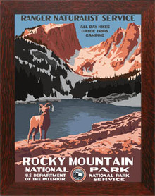 Rocky Mountain National Park Framed Poster