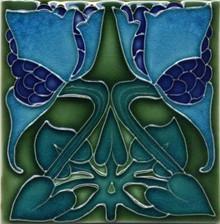 Porteous V20B Art Nouveau Tile