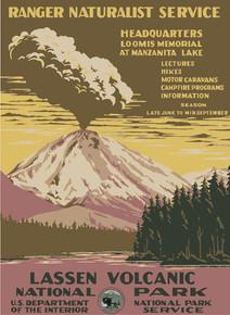 Lassen Volcanic National Park WPA Poster