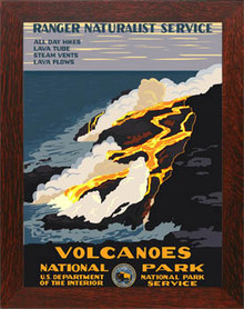 Hawaii Volcanoes National Park Framed Poster