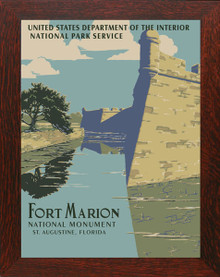 Fort Marion National Park WPA Poster Framed