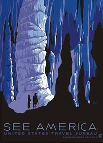 Carlsbad Caverns See America WPA Poster