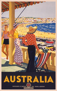 Australia, Bondi Beach, New South Wales by Percy Trompf, 1929