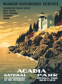 Acadia National Park WPA Poster