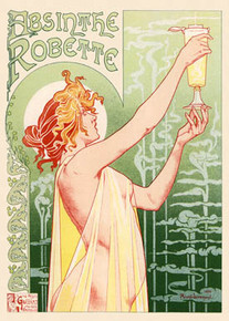 Absinthe Robette Poster by Henri Privat-Livemont, 1896