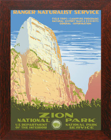 Zion National Park Poster Framed