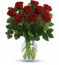 9 Roses Vased