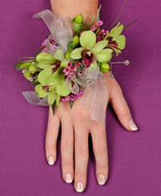 Orchid Fantasy Wrist Corsage