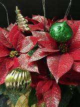 Glittered Ornament Poinsettia