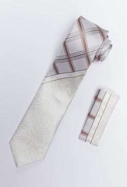JPJ Tie + Handkerchief BEIGE