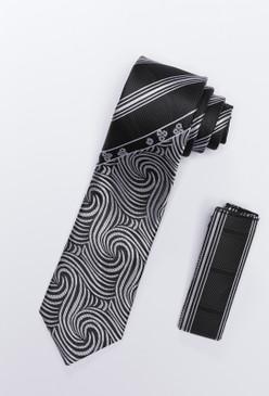 JPJ Tie + Handkerchief GREY