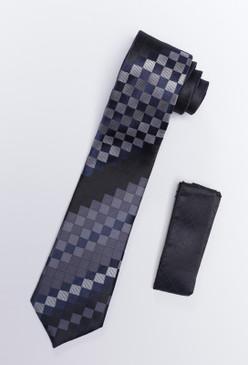 JPJ Tie + Handkerchief NAVY