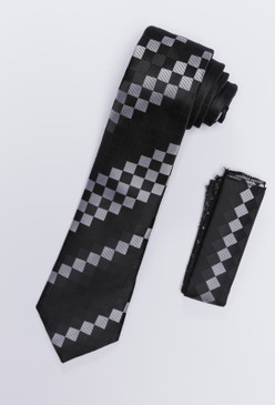 JPJ Tie + Handkerchief WHITE