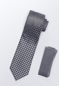 JPJ Tie + Handkerchief GREY (702)