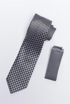 JPJ Tie + Handkerchief WHITE (702)