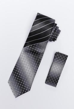 JPJ Tie + Handkerchief BLACK (704)
