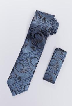 JPJ Tie + Handkerchief INDIGO (705)