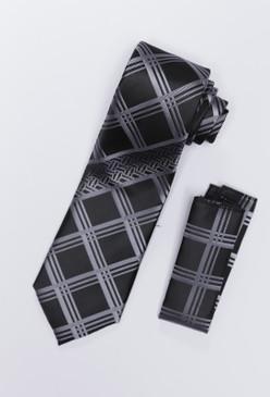JPJ Tie + Handkerchief GREY (707)