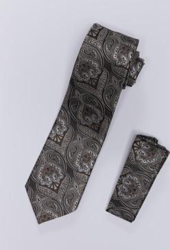 JPJ Tie + Handkerchief TAN (708)