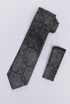 JPJ Tie + Handkerchief WHITE (708)