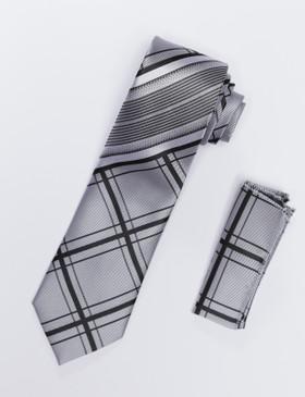 JPJ Tie + Handkerchief BLACK (709)