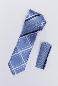 JPJ Tie + Handkerchief INDIGO (710)