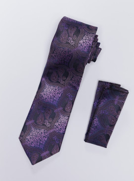 JPJ Tie + Handkerchief  PURPLE (715)