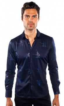 JPJ Ribbon Navy Shirt